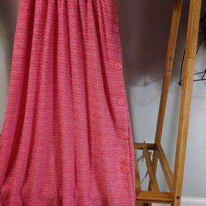 Vintage Dresses - Winnie Pink Short Sleeve Striped Day Dress S